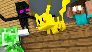 Monster School : POKEMON GO PIKACHU GAME CHALLENGE - Minecraft Animation