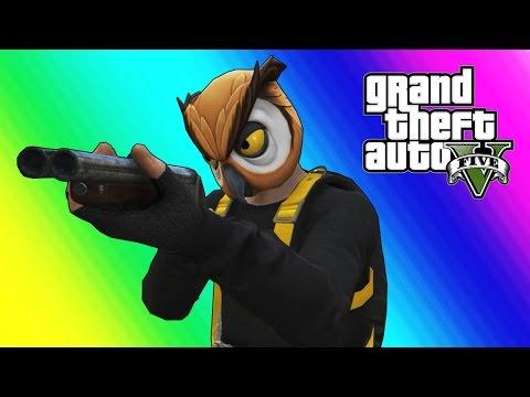 GTA 5 Online Funny Moments - Bubble Daryl Shotgun & Sumo Gamemode (Give Birth!)