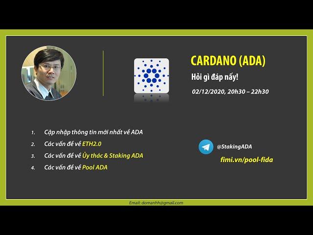 Cập nhật thông tin ADA 2020.12.02