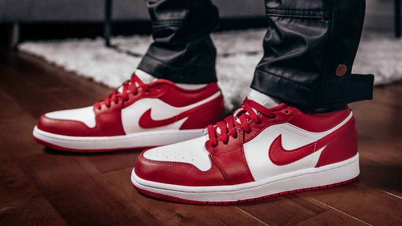 Jordan 1 Low Gym Red White Review On Feet New Beginnings