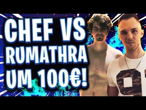 😂🥇💶DAS 100€ SOLO VS SQUAD DUELL!   Chefstrobel vs Rumathra! Wer ist der bessere Spieler?!