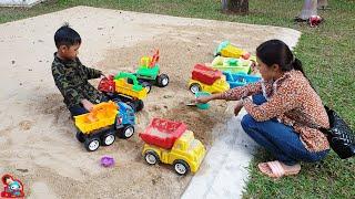 น้องบีม | เล่นรถของเล่นในบ่อทราย เที่ยวกาญจนบุรี โรงแรมไมด้ารีสอร์ท