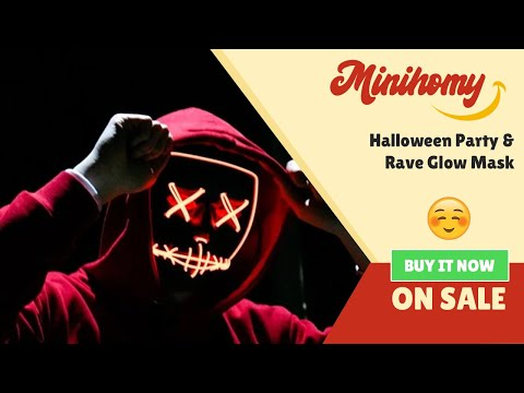 Halloween Glowing Mask In The Dark (Led Halloween Party & Rave Glow Mask)