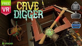 Cave Digger. Jump into the elevator deep down and mining in VR.