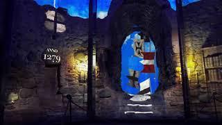 Цесис. История замка. Проектор внутри уцелевшей башни!