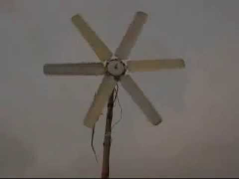 Ceiling fan wind turbine youtube ceiling fan wind turbine aloadofball Images