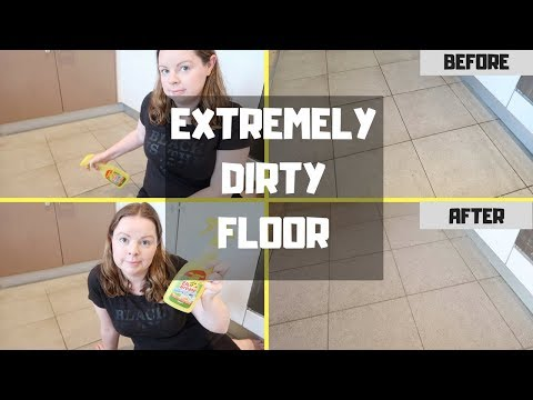 EXTREMELY DIRTY FLOOR || SCRUB & CLEAN WITH ME || ELBOW GREASE