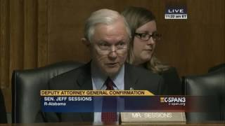 From 2015: Sen. Sessions questions Sally Yates (C-SPAN) Free HD Video