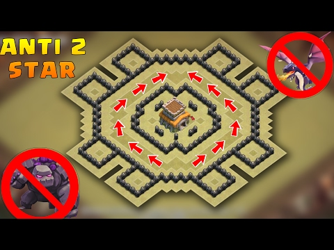 Town Hall 8 Anti 2 stars War Base 2017 With Proof | CoC Best TH8 War Base