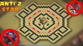 "Download lagu Town Hall 8 Anti 2 stars War Base 2017 With Proof | CoC Best TH8 War Base ""Anti-Drags,  Anti-Gowipi"""
