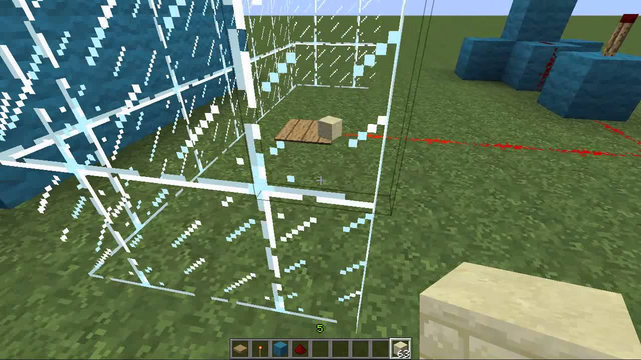 how to make a glass pane in minecraft pe