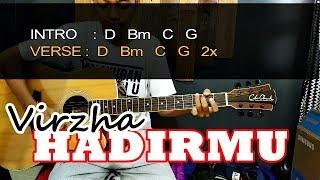 Tutorial Gitar HADIRMU - VIRZHA Chord Asli | Eddy Supriadi
