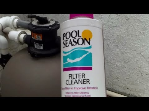 how to use a filter cleaner in a sand filter, sand filter part 5 ...