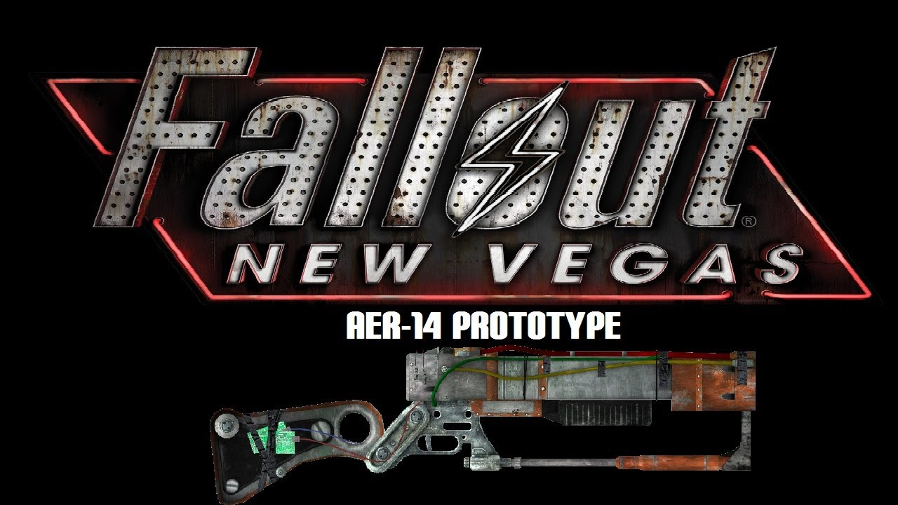fallout new vegas unique weapons aer14 prototype youtube