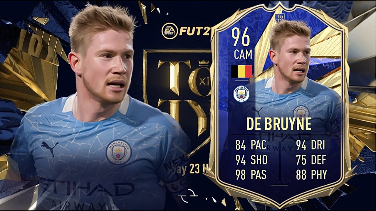 FIFA 21: KEVIN DE BRUYNE 96 TOTY PLAYER REVIEW I FIFA 21 ULTIMATE TEAM -  YouTube