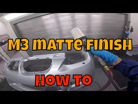 How to paint matte clear coat with ppg