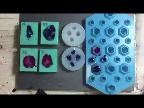 166. Making Resin Crystals in different Silicone Molds