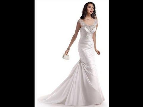 Dlass Crystal Mermaid Wedding Dresses 2014 Bridal Gown - YouTube