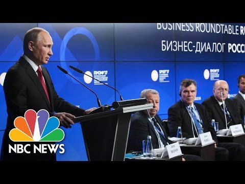 Megyn Kelly Moderates Key Session Of St. Petersburg International Economic Forum | NBC News