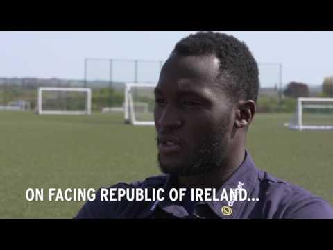 Everton players on Belgium v Republic of Ireland.