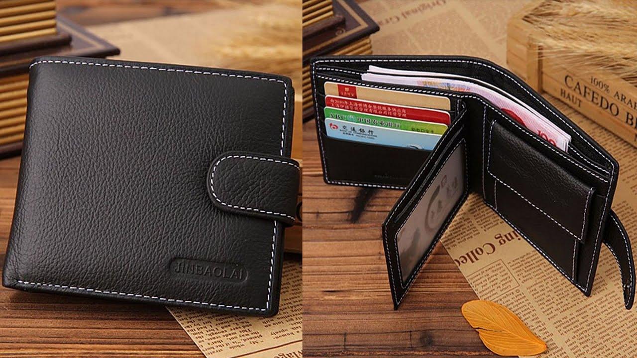 bb6895eaf57d Недорогой мужской кошелёк, бумажник или портмоне из ПУ кожи JINBAOLAI  (Aliexpress)