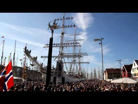 Shanty (seamans Working Song) From Statsraad Lehmkuhl In The Tall Ships Races In Stavanger