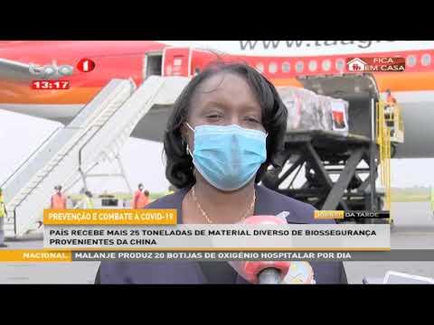 Prevenção e combate à covid-19:País recebe mais 25 toneladas de material diverso de biosseguranc