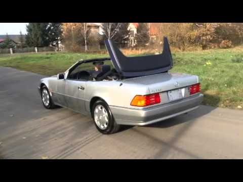 mercedes benz r129 sl 320 dach youtube. Black Bedroom Furniture Sets. Home Design Ideas
