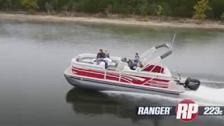 Ranger RP223C Reata Pontoon On-Water Footage
