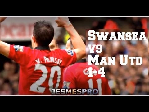 Swansea City vs Manchester United 1-4 (HD)