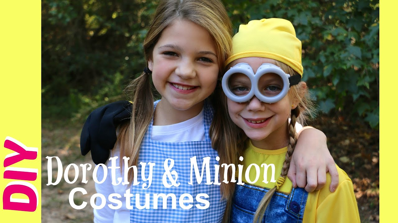 how to make dorothy halloween costume diy minions costumes trick or treating best friends youtube