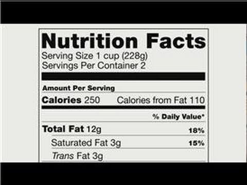 Basic Nutritional Advice : Hints on Reading Food Nutrition Labels