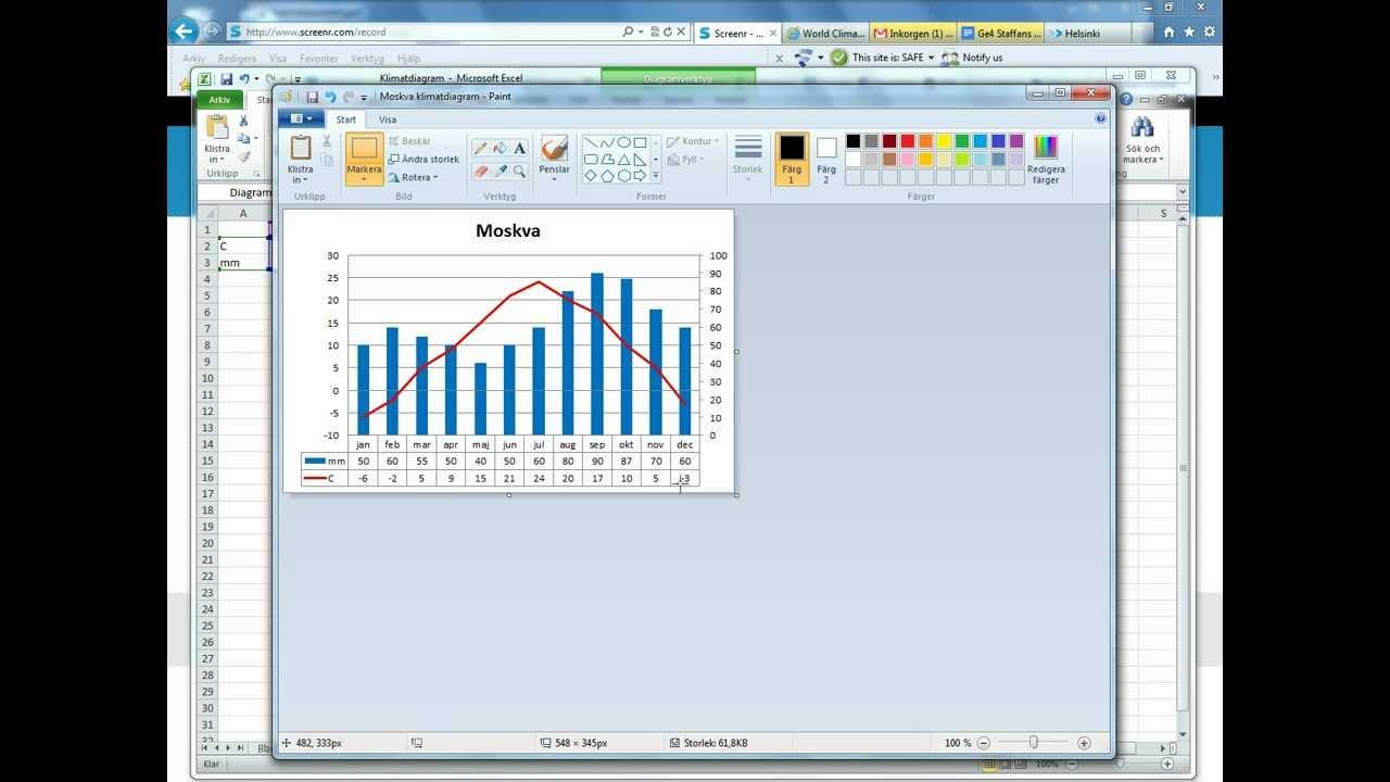 Flytta diagram från Excel till Google Drive dokument