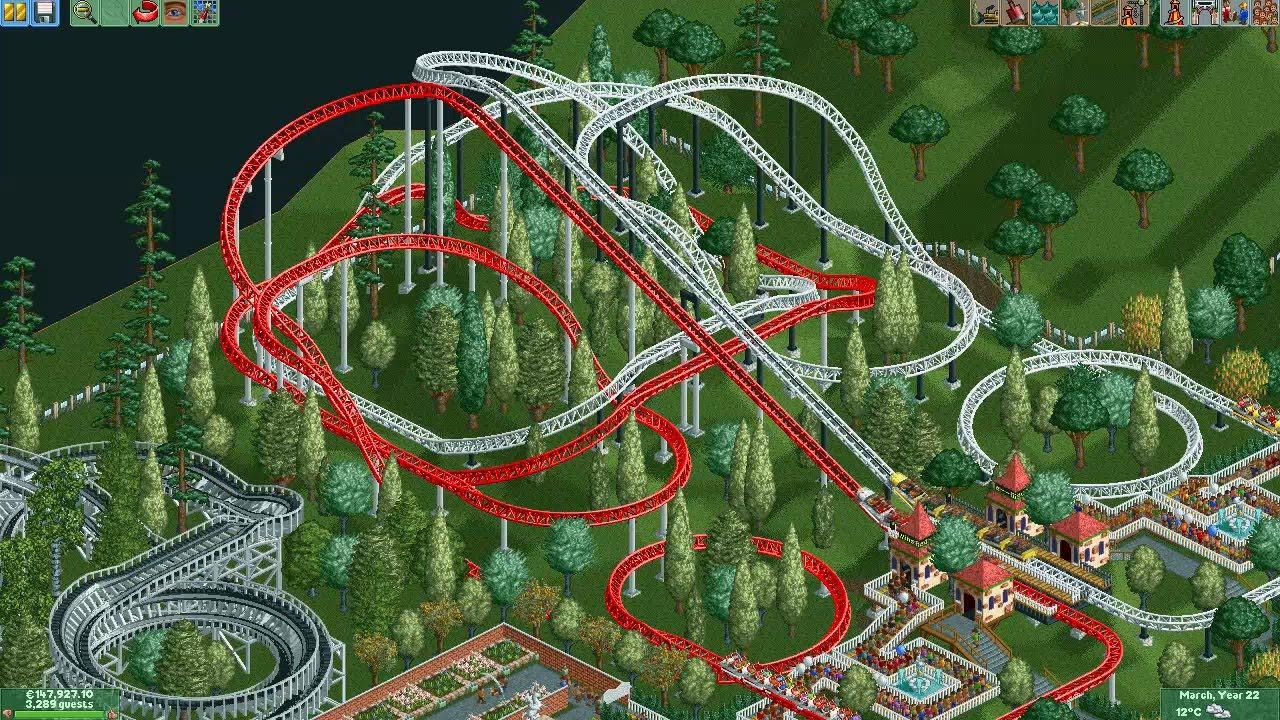 RCT2 - Mega Park Finished (Original Roller Coaster Tycoon 1 Scenario)