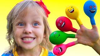 Daddy Finger Family Song with Balloons - Lagu Anak-Anak Video Edukasi dari Alex dan Nastya