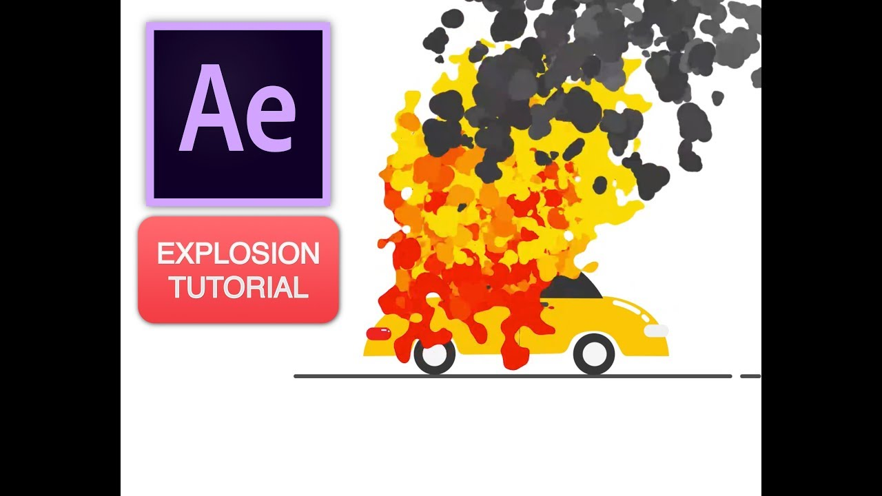 After effects tutorial fire explosion with particular youtube.
