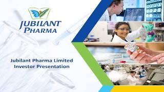 Jublient life science Ltd Investor Presentation September 2018