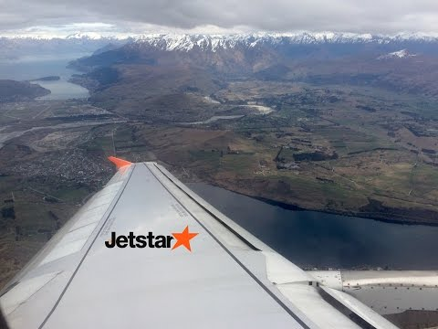 Jetstar Airbus A320 Powerful Take Off from Queenstown Airport