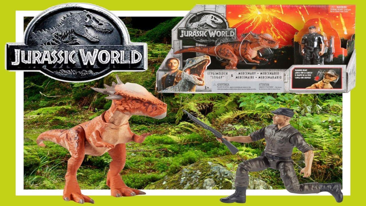 Jurassic World Story Pack Stygimoloch and Mercenary Figure Fallen Kingdom