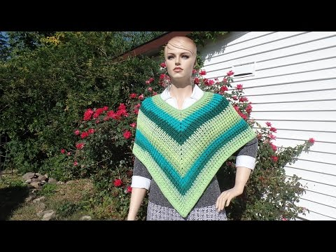 CROCHET How To #Crochet Easy Ribbed Adult Poncho #TUTORIAL #342 LEARN CROCHET