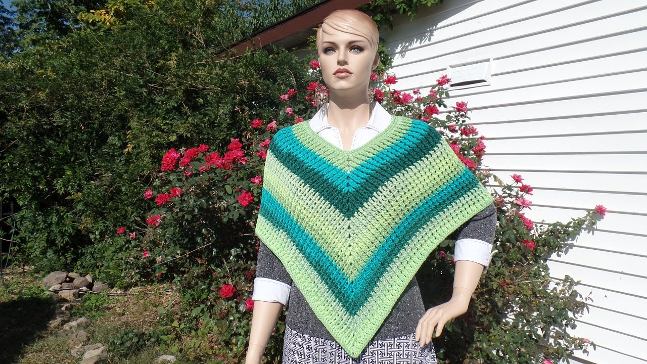 Adult crochet patterns for ponchos