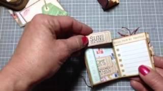 Altered Altoid Tin mini suitcase.