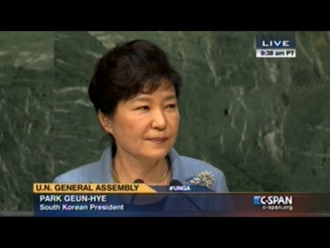 South Korean President Park Geun-Hye Speech At United Nations