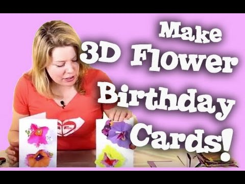 3D Flower Happy Birthday Greetings Card Tutorial