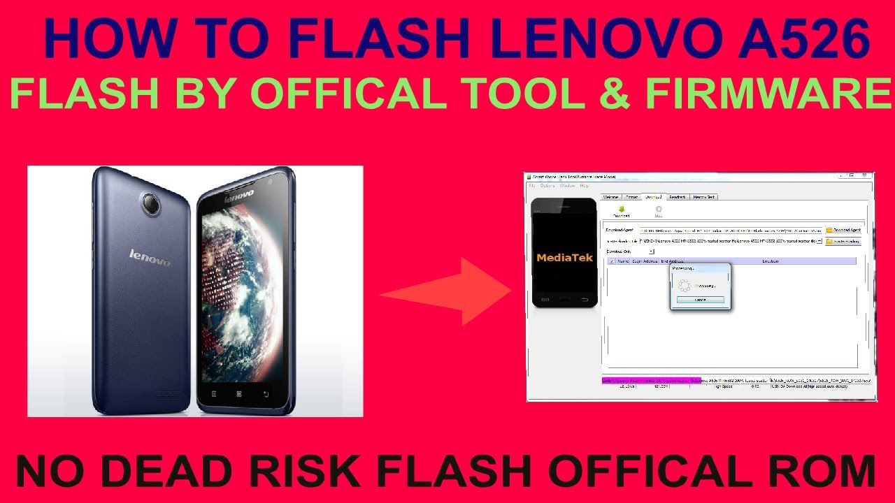 HOW TO FLASH LENOVO A526 FLASH BY OFFICAL TOOL & FIRMWARE by GSM Solution