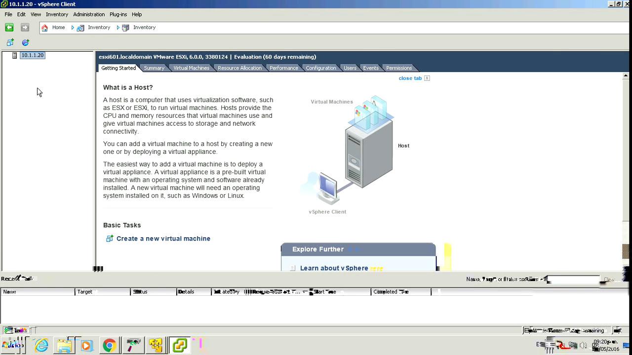 02 Vmware ESXI 6 Instalar vSphere Client - Configuración Básica