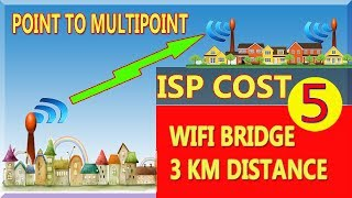 ISP | how much cost 1,2,3 km wifi bridge | point to multi point  wireless |  hindi urdu (5) YouTube
