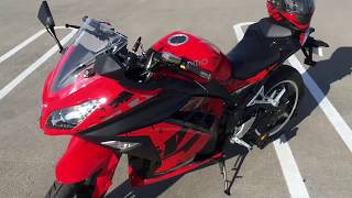 Emmo Zone Sport 2018 Model Review! WIND WARNING!!! Based From A Ninja 300!