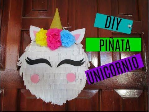 Diy Piñata De Unicornio Piñata De Cartón Fiesta De Cumpleaños