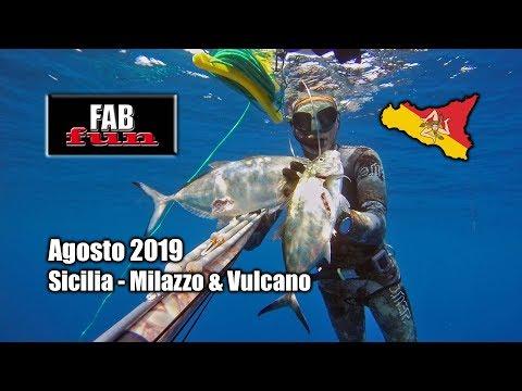Pesca Sub | Sicilia Nord Orientale: Milazzo E Vulcano | Spearfishing, Chasse Sous-marine